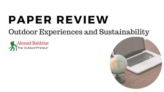 Review: Outdoor Experiences and Sustainability