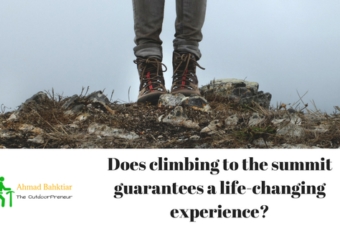 Does climbing to the summit guarantees a life-changing experience?